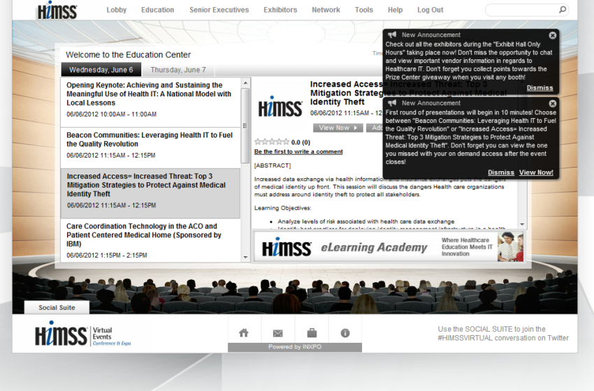 HIMSS Virtual Conference: Pursuing Healthcare Transformation Through IT