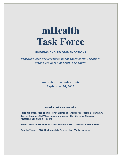 mHealth Task Force Report