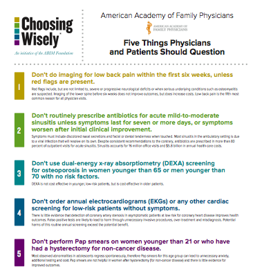 Person-Centered HealthCare: The Choosing Wisely Campaign
