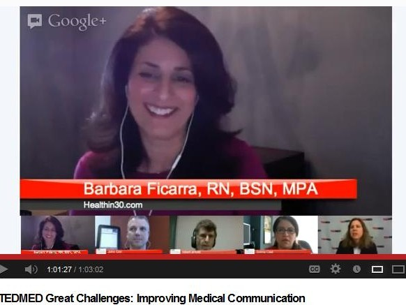 TEDMED Great Challenges Barbara Ficarra YouTube Improving Medical Communication