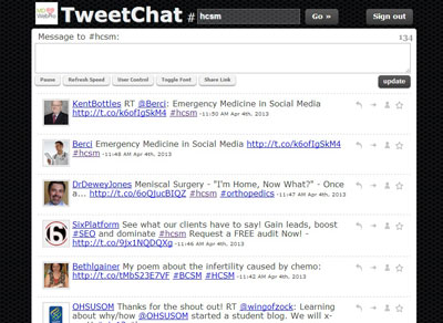 Tweetchat screenshot