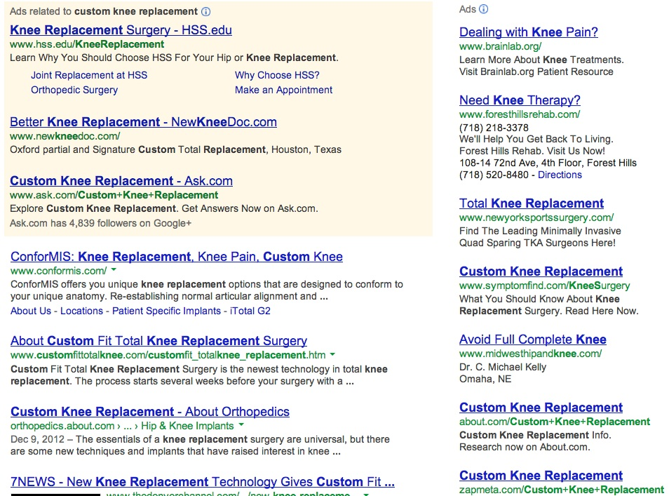 customkneereplacementgoogle