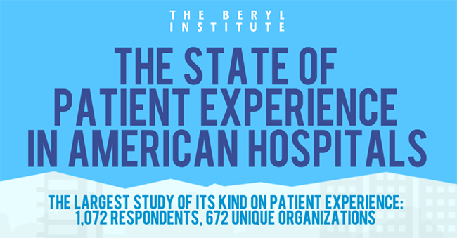 2013 Benchmarking Study on the Patient Experience in American Hospitals [infographic]