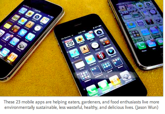mobile apps food system