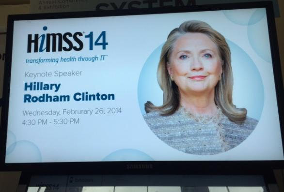 hillary clinton at HIMSS 2014