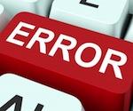 error mistake