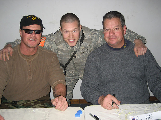 Former football stars Jim McMahon