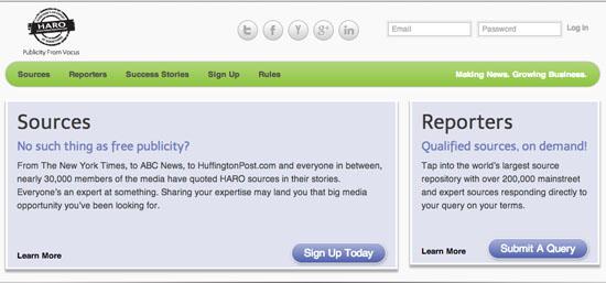 HARO website
