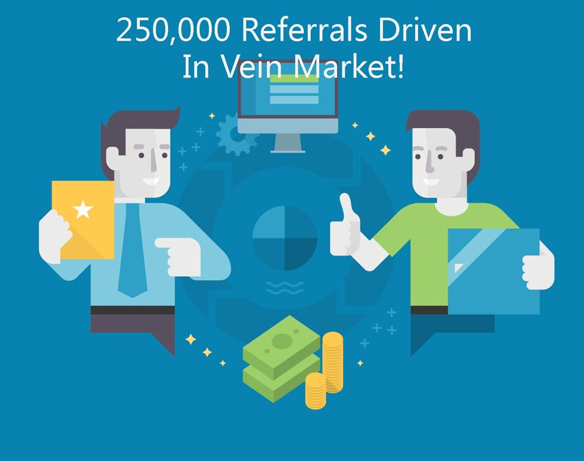 MD Connect Drives 250,000th Digital Referral In Vein Market