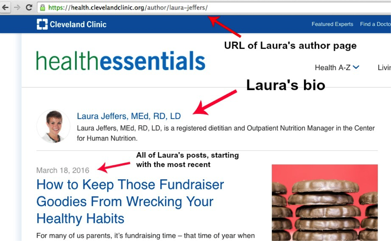 Laura Jeffers author page at Cleveland Clinic Health Essentials blog