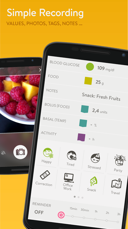 MySugr Logbook app screenshot