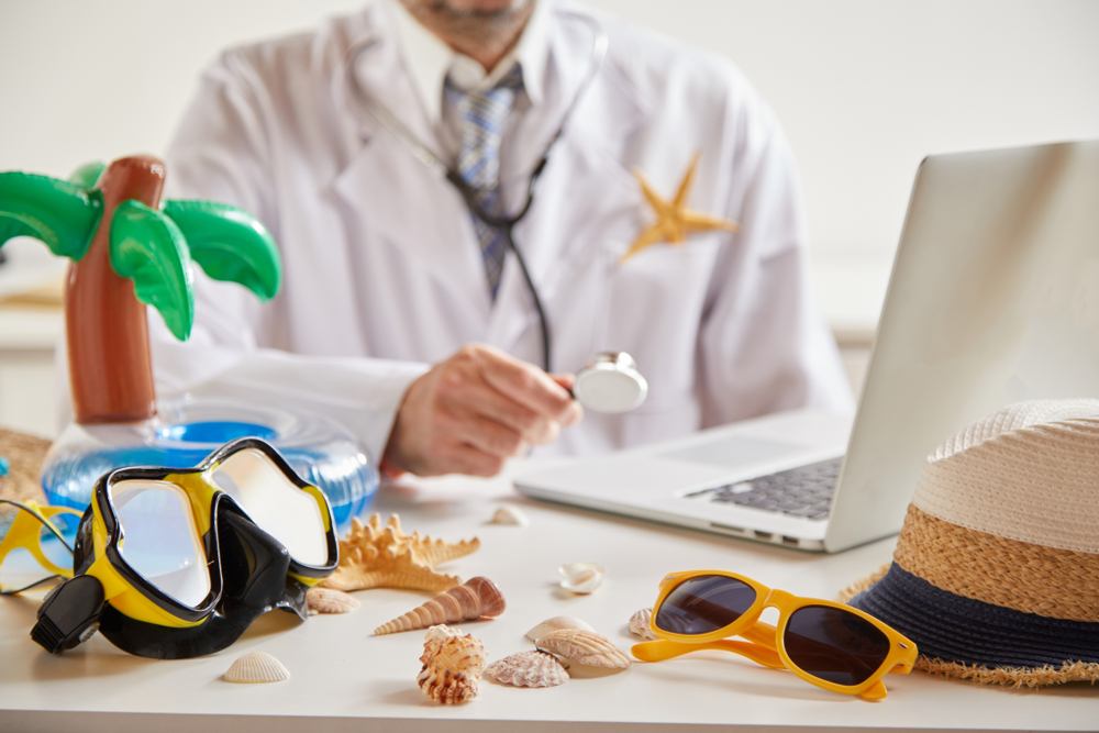 healthcare workers vacation