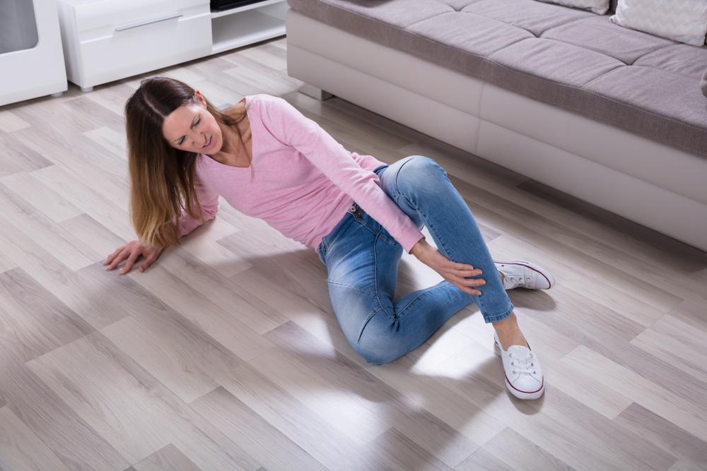 slipping on floor
